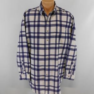 L.L. Bean heavy weave long sleeve button down shirt.  XL - Tall